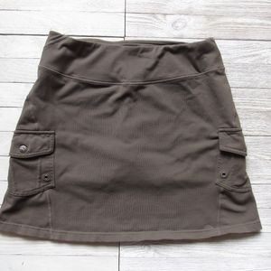 Athleta Running Skirt With Shorts SZ Small Olive